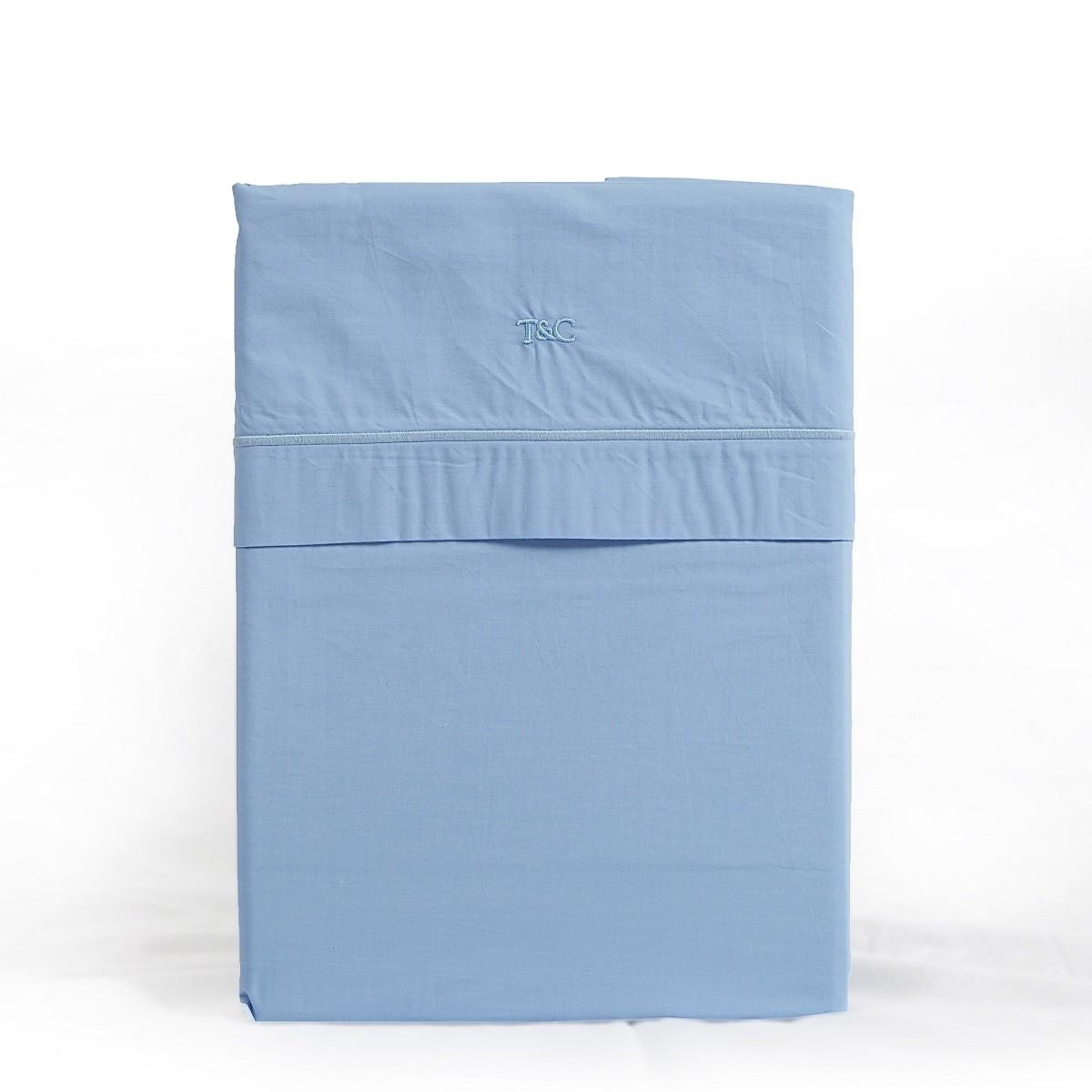 Laken cordon vrijstaand blue