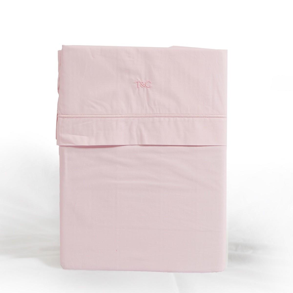 Laken cordon vrijstaand roze
