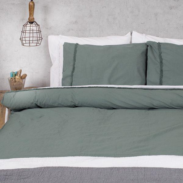 Harwich groen dekbedovertrek
